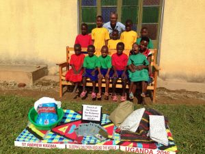 Norma Rookwood from Canada with the children of Uganda. Photo:submitted