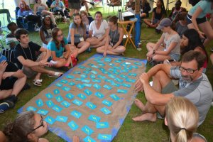 The cards on the table were used throughout the week to pair people up for various activities. Photo: Diocesan website