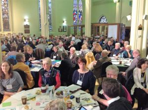 Synod delegates from parishes and other groups gather annually to hear reports and plan for the future. Photo: Hollis Hiscock