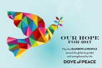 Rainbow dove – messenger for the New Year