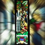 Through a Canadian stained glass window – John Stuart and Joseph Brant
