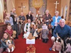 Certificates presented at pet blessing