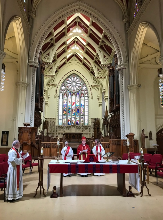 Michael at altar