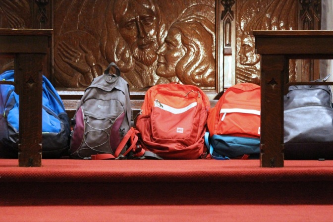 Backpacks at Altar (002) Ancaster