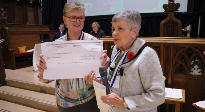 Synod 21 canterbury camp donation