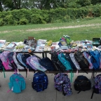 Backpacks collected by All Saints, Hamilton